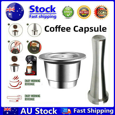 AU24.89 • Buy Nespresso Stainless Steel Coffee-Capsule Refillable Reusable-Pods Tamper Set  AU