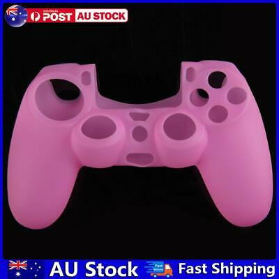 AU7.73 • Buy Silicone Rubber Soft Case Skin Cover For PS4 Controller Grip Handle Pink AU