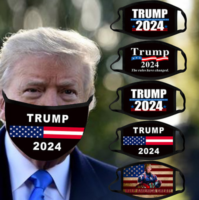 AU14.58 • Buy Face Mask Trump 2024 Keep America Great Support Donald Trump Washable Reusable