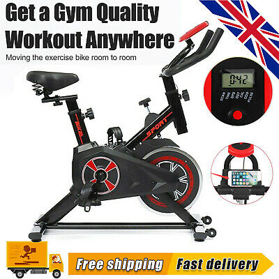 £98.98 • Buy Exercise Spin Bike Home Gym Bicycle Cycling Cardio Fitness Training Workout UK