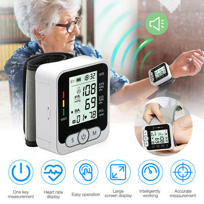 £13.59 • Buy Automatic Wrist Blood Pressure Monitor Heart Rate BP Meter Tester With Memory
