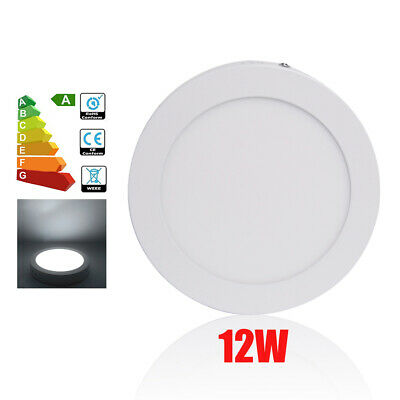 £8.18 • Buy 12W Round LED Surface Mounted Ceiling Panel Light Kit Downlight Day White Lamp