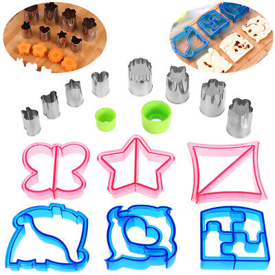 £11.15 • Buy Kids Lunch Sandwich Toast Cookies Mold Cake Bread Biscuit Food Cutter Moulds 16X