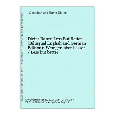 £21.87 • Buy Dieter Rams: Less But Better (Bilingual English And German Edition): Weniger, Ab