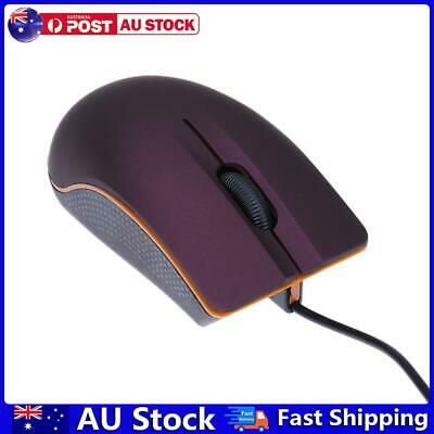 AU8.25 • Buy USB 3D Wired Optical Mini Mouse Mice For PC Laptop Computers Purple AU