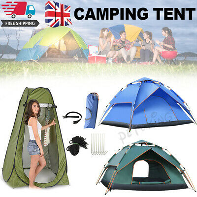 £17.99 • Buy 4-5 Person Man Family Tent Instant Pop Up Tent Breathable Camping Hiking Outdoor