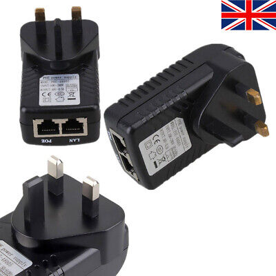 £10.99 • Buy 48V 0.5A Wall Charger POE Power Supply Injector Adapter Over Ethernet UK Plug
