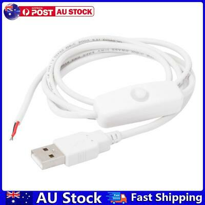 AU7.44 • Buy 1m 5V USB Power Cable 2 Pin USB 2.0 Male Cord Extension DIY With Switch AU
