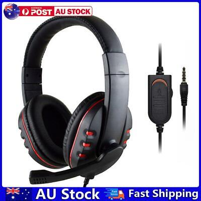 AU16.86 • Buy 3.5mm Wired Gaming Headset Headphones With Mic For PS4 Xbox One PC (Red) AU