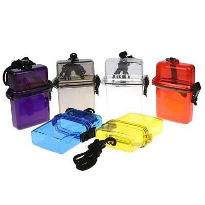 £5.08 • Buy Waterproof Plastic Key Money Phone Container Case Portable Outdoor Camping