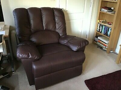 £100 • Buy Brown Leather 3 Piece Suite