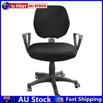 AU11.66 • Buy Spandex Stretch Computer Chair Cover Home Office Chairs Seat Case (Black) AU