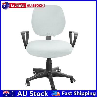 AU10.65 • Buy Spandex Stretch Computer Chair Cover Home Office Chairs Seat Case (Grey) AU