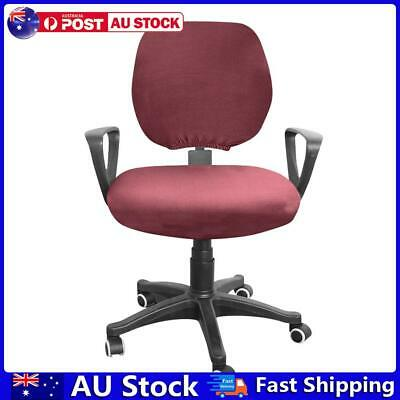 AU10.78 • Buy Spandex Stretch Computer Chair Cover Office Chairs Seat Case (Wine Red) AU