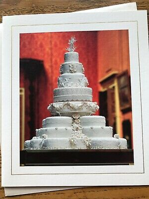 £2.45 • Buy Wedding Day Congratulations Card Cake Flowers Fiona Cairns Royal  (T952)