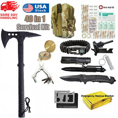 $54.99 • Buy Survival Outdoor Kits Camping Axe Tactical Hatchet EDC Emergency Gear Tools