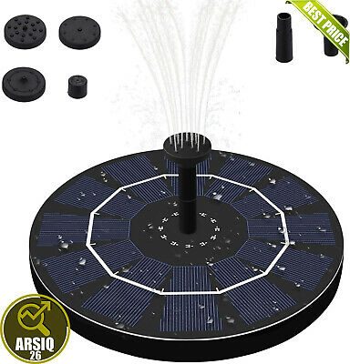 £11.99 • Buy Fostoy Solar Water Fountain, 2.5W Solar Fountain Pump With Battery Backup And 4