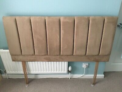 £9 • Buy Double Bed Headboard Brown Suede Effect. 2 Fixing Bolts Included.