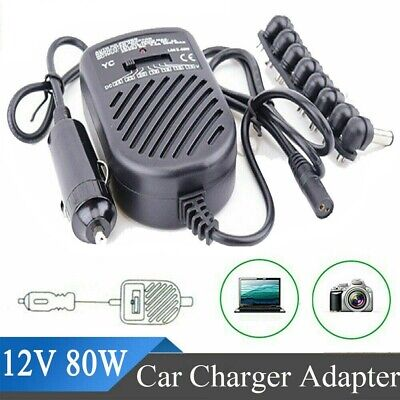 £9.47 • Buy Universal 80W 12V DC Car Charger Laptop Notebook HP Power Supply Adapter