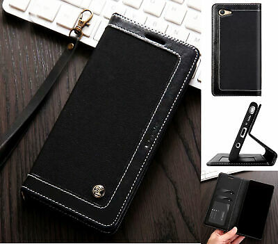 AU13.50 • Buy Oppo A59 F1s Wallet Case Denim Leather Combined Style Lanyard