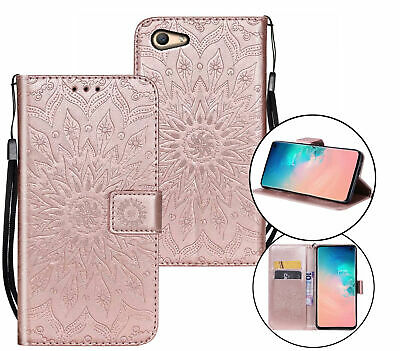 AU10.95 • Buy Oppo A59 F1s Wallet Case Embossed Pu Leather Sunflower