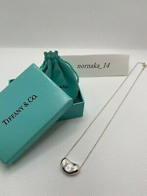 £68.37 • Buy 【MINT】TIFFANY & Co Sterling Silver 925 Large Bean 20mm Pendant With Box
