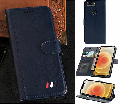 AU7.90 • Buy Oneplus 5T Full Grain Finish Pu Leather Wallet Case Card & Stand