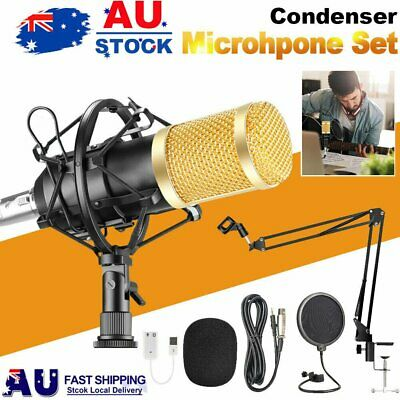 AU34.90 • Buy Computer Condenser Podcast Microphone PC/ Gaming/Recording/Streaming Microphone