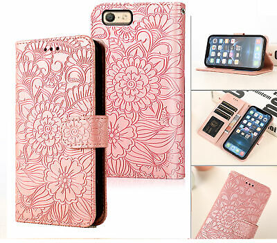 AU6.95 • Buy Oppo A39 A57 Embossed Pu Leather Wallet Case Floral
