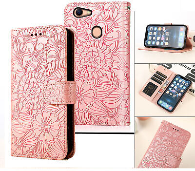 AU6.95 • Buy Oppo A73 A75 F5 Embossed Pu Leather Wallet Case Floral