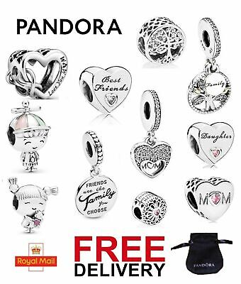 £13.95 • Buy Pandora Charms Family Friends Collection Mum Sister Daughter Nan Friendship NEW