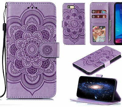 AU10.95 • Buy Oppo A39 A57 Wallet Case Embossed Pu Leather Mandala
