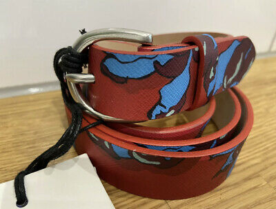 £58.50 • Buy Designer Paul Smith Woman's Red Floral Leather Belt Size 95cm RRP £145 BNWT