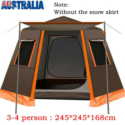 AU199.99 • Buy Large Family Camping Tent Waterproof Hiking Beach Outdoor Tent For 3-4 Person AU