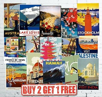 £3.75 • Buy Vintage Travel Poster & Railway Posters Popular Retro Wall Art Prints A5/A4/A3