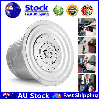 AU14.99 • Buy Stainless Steel Refillable Reusable Coffee Capsule Strainer Filter For Nespresso