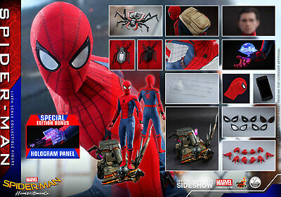 $ CDN1076.30 • Buy Hot Toys 1/4 Spider-man Homecoming Qs014b Peter Parker Limited Edition Figure