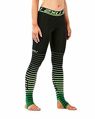 £105.87 • Buy 2XU Women's Elite Power Recovery Compression Tights Black/Green Large/Tall