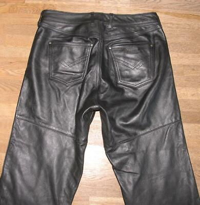 £30.95 • Buy   Polo Rooster   Men's Leather Jeans / Biker Trousers Black Approx. W33   / L26
