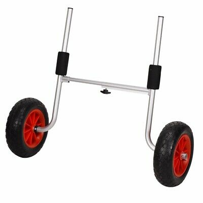 AU53.99 • Buy Aluminium Foldable Kayak Trolley Collapsible Wheel Boat Carrier Solid WheelS