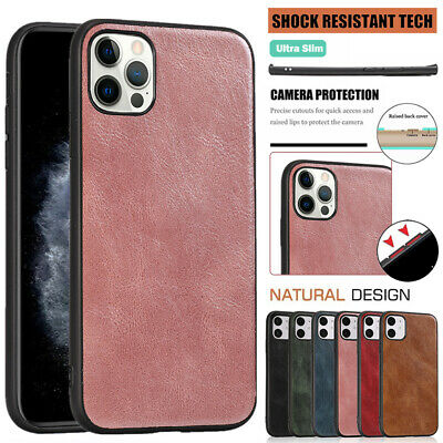 AU12.99 • Buy For IPhone 12 11 Pro Max Mini XR XS 7/8/SE Plus Case Leather Pattern Back Cover