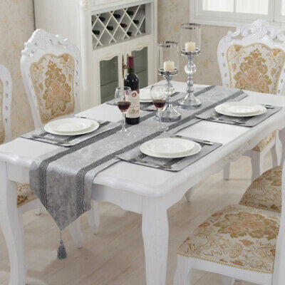AU21.42 • Buy Diamante Table Runner Crushed Velvet Cover Dining Placemats Wedding Party Decor