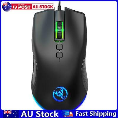 AU17.29 • Buy HXSJ A883 USB Wired Programmable 6400 DPI Backlight Optical Gaming Mouse AU