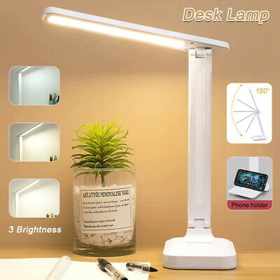 AU17.59 • Buy Touch LED Desk Lamp Bedside Study Reading Table Light USB Ports  Dimmable AU