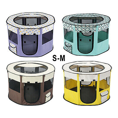 £23.60 • Buy Foldable Dog Cat Playpen Play Exercise Fabric Kennel Breathable Kitten House