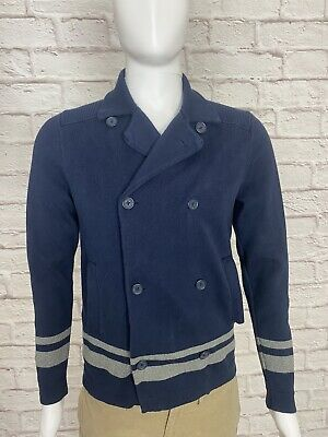 $17.90 • Buy Mens Tommy Hilfiger Collared Button Down Sweater Size Small S Navy Blue And Grey