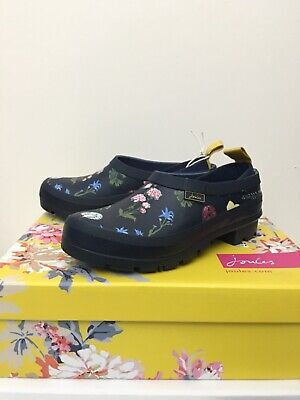 £34.50 • Buy Joules Womens Pop On Slip On Welly Clogs - Navy Spring Flowers - 3 Adult
