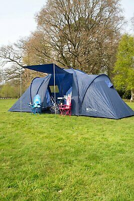 £189.99 • Buy Mountain Warehouse Holiday 6 Man Dome Tent Large Shelter Camping Sleeping