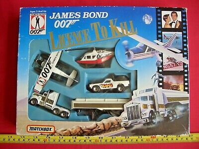 £49.99 • Buy James Bond 007 Licence To Kill Matchbox Car Truck Plane Helicopter Gift BOX Set