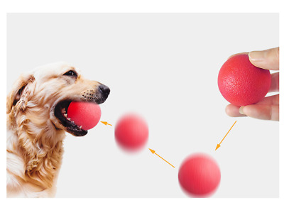 £4.03 • Buy Training Dog Resistant Bite Ball Pet Solid Core Rubber Bouncy Interactive Toys
